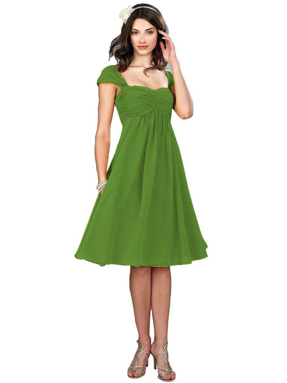 ThaliaDress Cap Sleeve Bridesmaid Evening Dresses Prom Gowns T274LF Green US18W