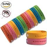 Mückenschutz Armband -12 Packungen alle natürlichen Anti-Moskito-Armband Bug Repellent Bands Reisen abweisende Armbänder No Deet nicht giftig für Kinder, Erwachsene und Haustiere