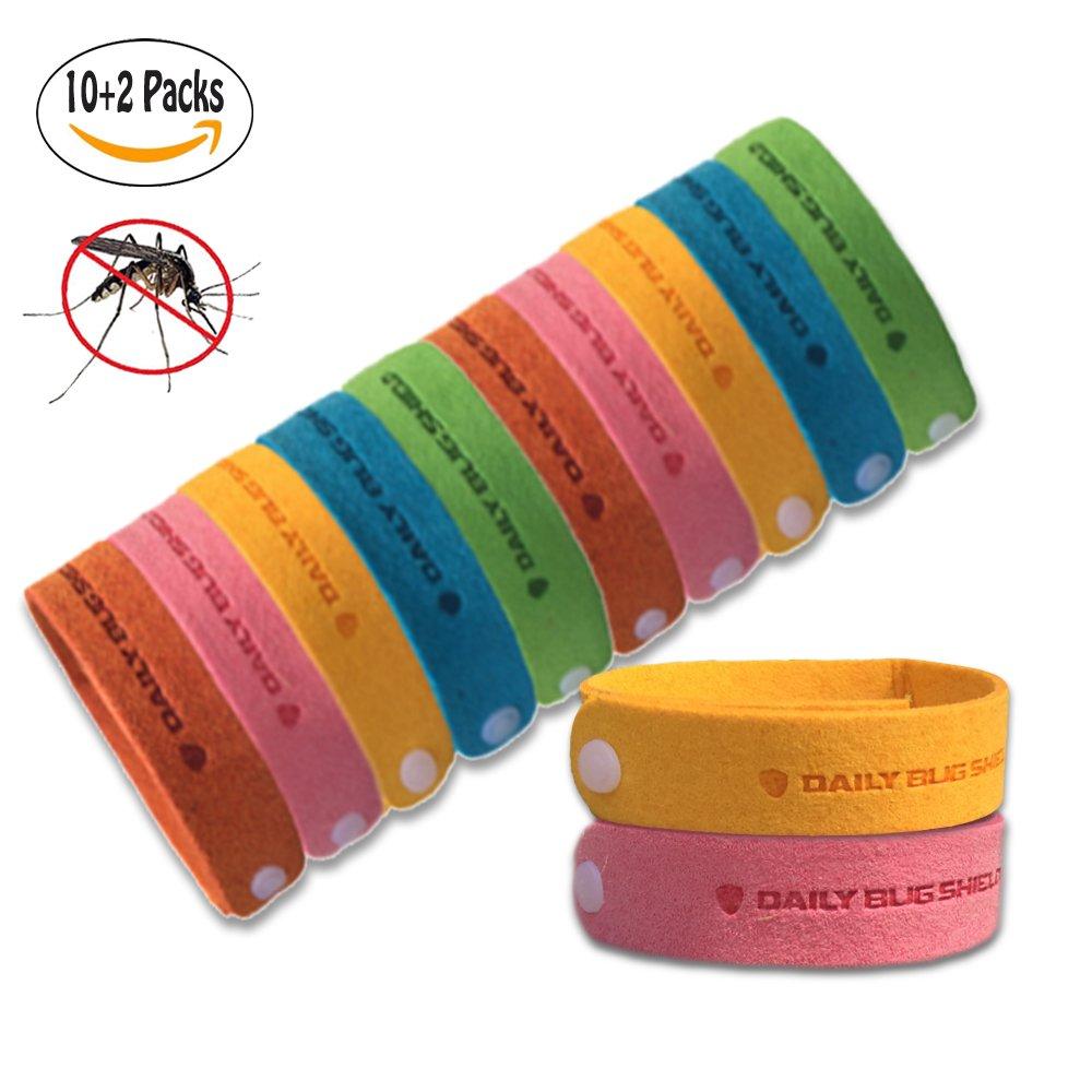 KIVETAI Mosquito Repellent Bracelet -12 Packs All Natural Bug Repellent Bands Travel Repellent Wristbands For Kids, Adults & Pets, No Deet Non Toxic