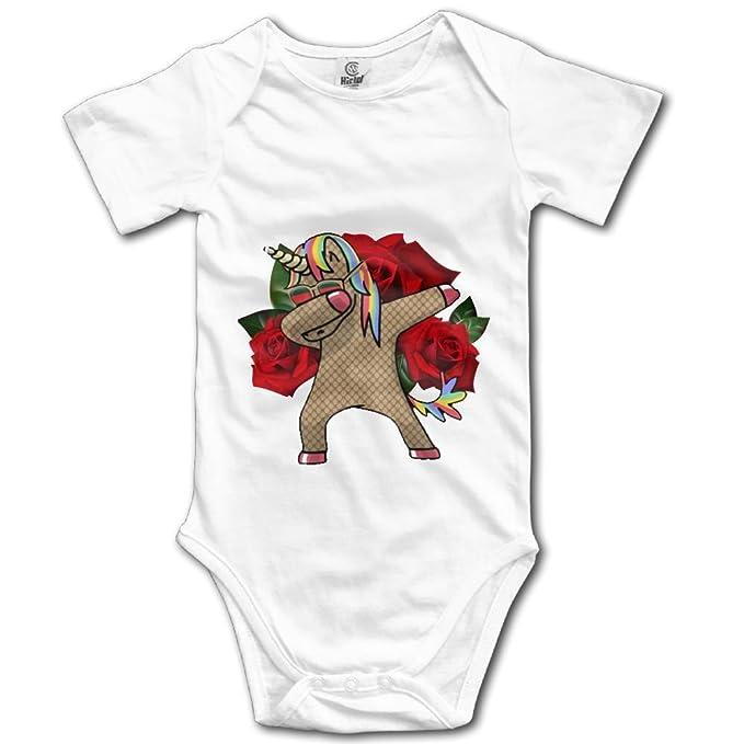 68c01263ef40 Newborn Infant Kids Baby Boy Girl Funny Dabbing Goat Rose Hip Hop Short  Sleeve Romper Jumpsuit