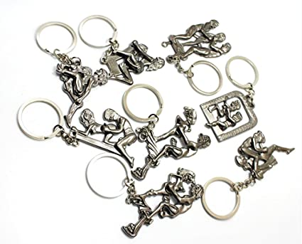 9021f8e4eb9 YOYOSTORE 8 Set Naughty Dirty Sex Moveable Adult Metal Keychain Keyrings  Funny Sexy Nude A
