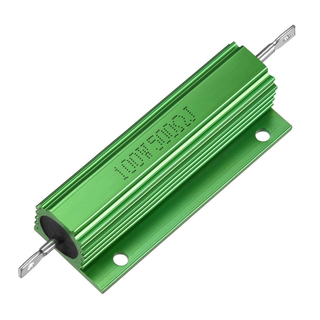 sourcing map box resistore in alluminio 100W 500 Ohm a filo avvolto per LED sostituzione convertitore