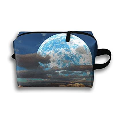 GNMB Beautiful Moon Portable Travel Home Lingerie Bra Cosmetic Make-up Storage Bag Handbag