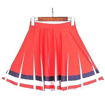 B2KEY®Faldas de Verano para Mujer Falda Plisada Falda Estampada ...
