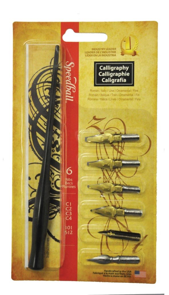 Speedball Art Products SB2961 6-Nib Calligraphy Lettering Set Notions - In Network