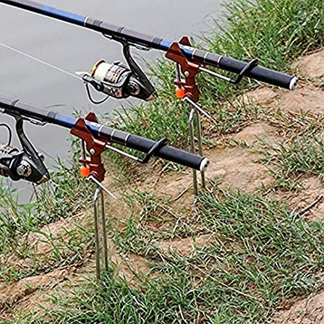 Adjustable Double Pole Bracket Fishing Rod Stand Holder Sea Fishing Tackle  X