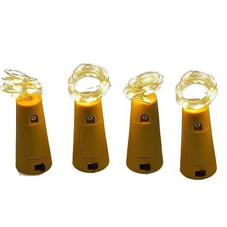 10 LED Luz botella mini luz cadena alambre Pila de botón para Navidad, fiestas,
