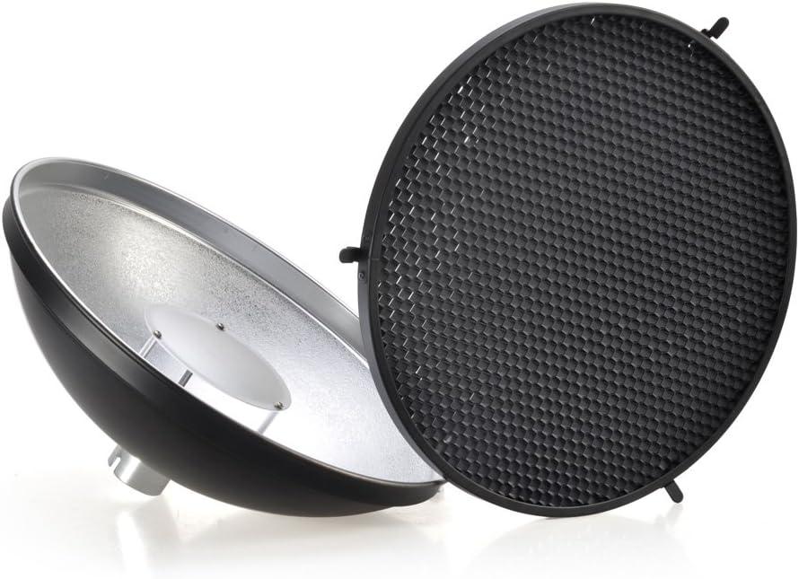 Godox ad-s3/Beauty Dish Reflektor mit Wabe Cover f/ür Godox WITSTRO AD200/Pocket Flash Godox AD180/AD360/ad360ii Flash Speedlite/ /inkl pergear Reinigung Kit