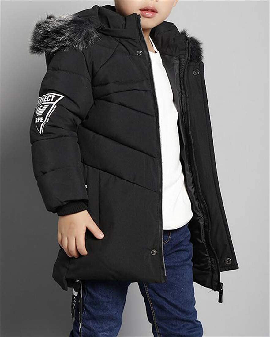 Etecredpow Boys Outwear Hooded Fashion Thickened Cute Quilted Parkas Coats