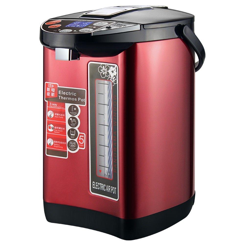 XUEQIN Hervidores y dispensadores de Agua Caliente Electric Kettle International Certification Multi-función de la protección de múltiples Capas 5L Vino ...
