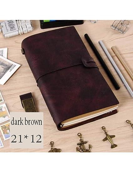 ZXSH Cuaderno Bloc De Notas Vintage Cuaderno De Espiral ...