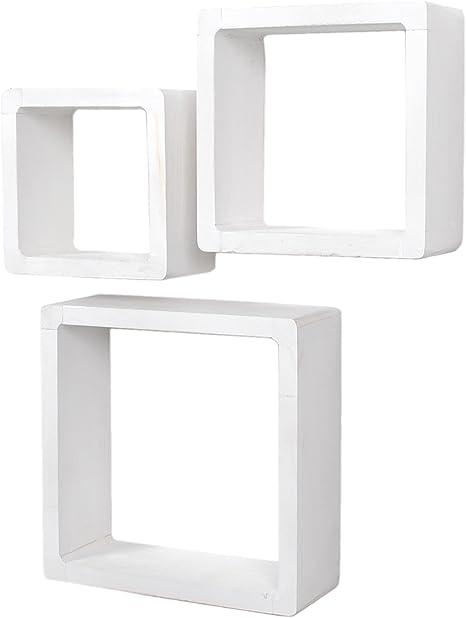 Ts Ideen Jeu De 3 étagères Cubiques Lounge Cube En Bois