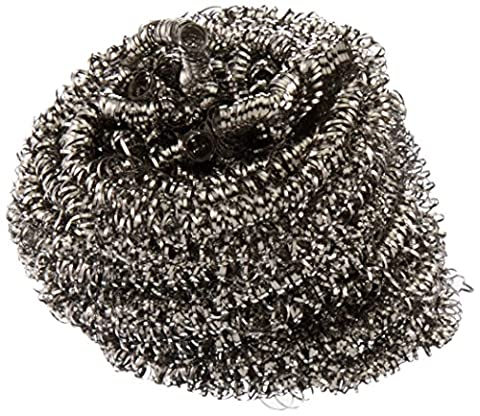 Lola Stainless Steel Scourer Sponge, 2-Pack - Self Cleaning Stainless Steel Grill