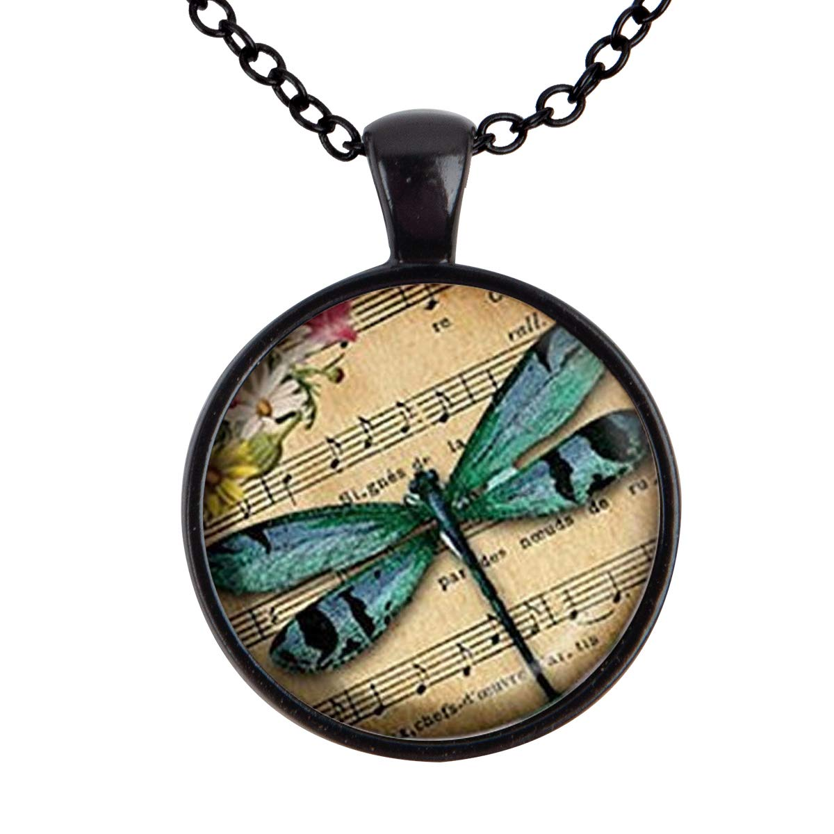 Lightrain Dragonfly Pendant Necklace Vintage Bronze Chain Statement Necklace Handmade Jewelry Gifts