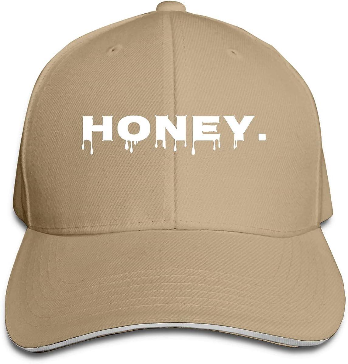 Honey Unisex Adult Baseball Caps Adjustable Sandwich Caps Jeans Caps Adjustable Denim Trucker Cap
