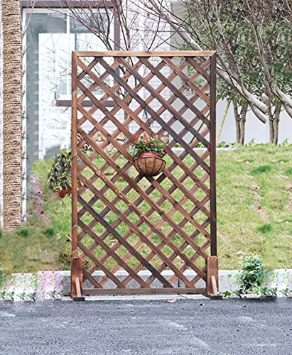 Caijun Flower Racks Massivholz Raster Zaun Wandhalterung Outdoor