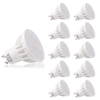 LOHAS® Regulable 6Watt GU10 LED Bombillas, Equivalente a 50Watt Lámpara Incandescente, Blanca Neutra
