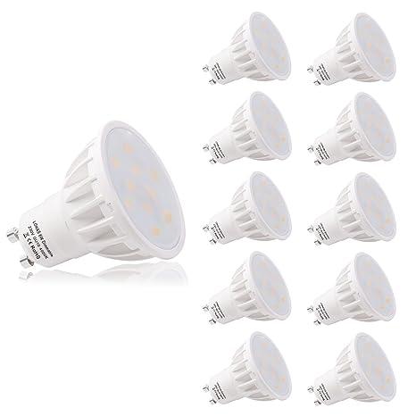 LOHAS® Regulable 6Watt GU10 LED Bombillas, Equivalente a 50Watt Lámpara Incandescente, Blanca Neutra