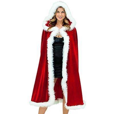 Les Femmes Vintage 1940 Est 50 Automne Chaud À Capuche Halloween Noël Cosplay Capes Cape Colorblock Châle Rouge Taille