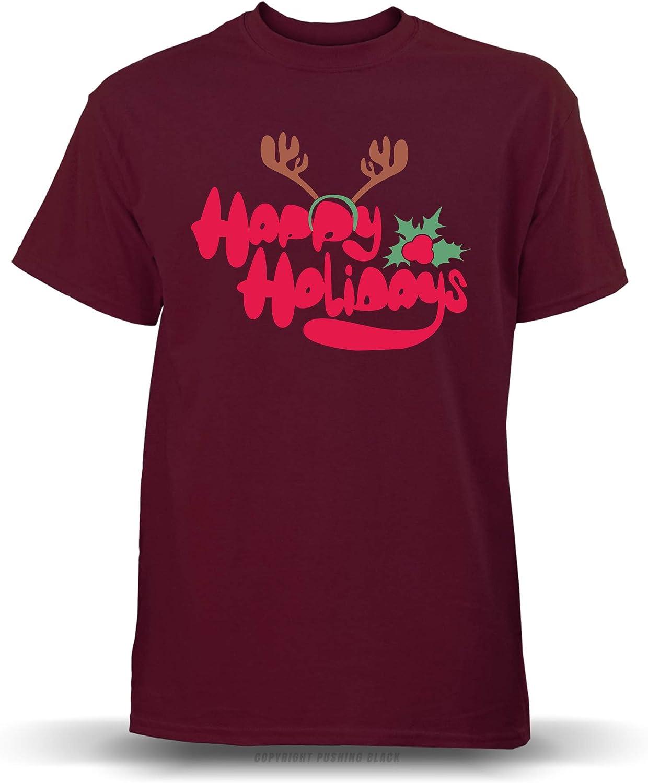 PUSHING BLACK Happy Holidays Unisex T-Shirt