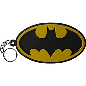 BATMAN Logo Rubber, Officially Licensed KEYCHAIN LLAVERO DC ...
