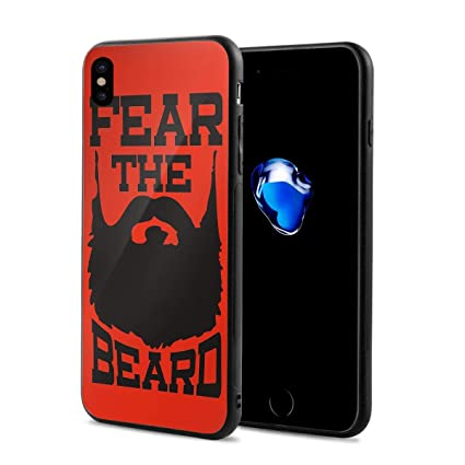 88c25154caae Image Unavailable. Image not available for. Color  DLAZANA Harden Fear The  Beard Soft Rubber Silicone Cover Phone Case for iPhone ...