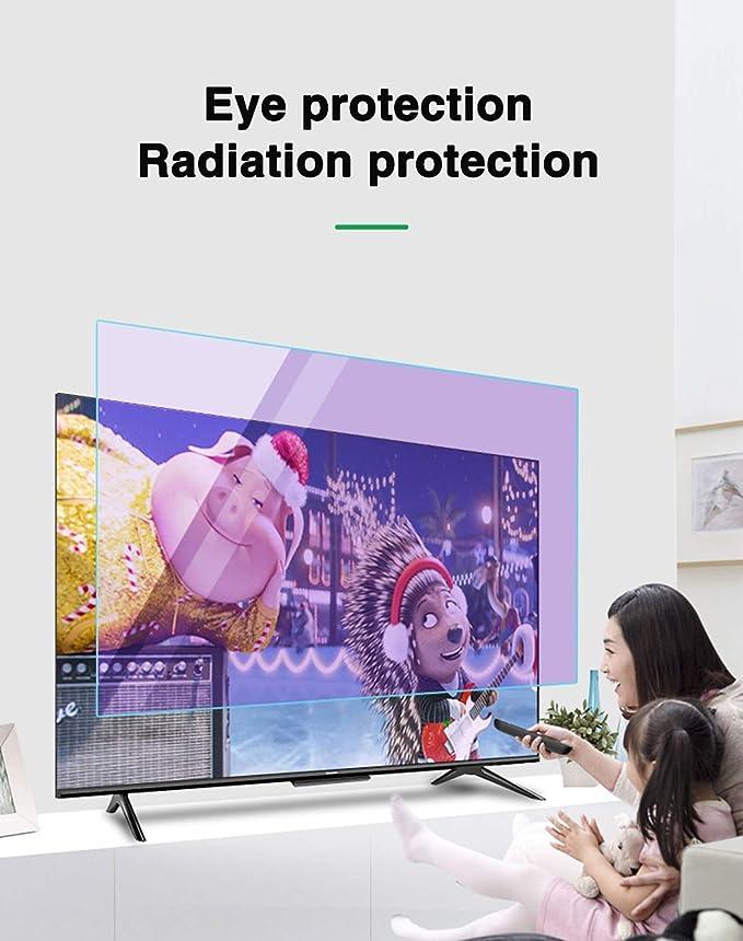 N / A File Protector Anti-Azul Plana Protector de la Pantalla/Pantalla Ultra-Clear LED 75 Pulgadas - la Huella Digital de derrames de petróleo Anti-Huella Digital/Reducir la Fatiga.: Amazon.es: Hogar