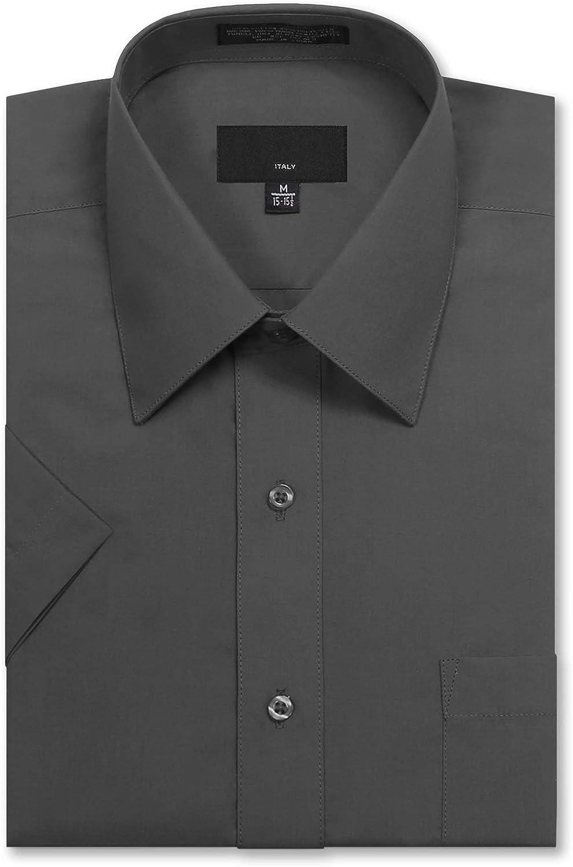 JD Apparel Mens Regular Fit Short-Sleeve Dress Shirts