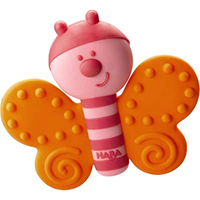 HABA Clutching Toy Butterfly Silicone Teether : Baby
