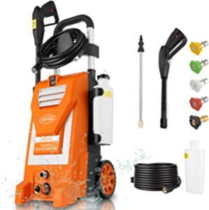 Kepma Electric Pressure Washer, 3800PSI 3.0GPM Power Washer 2000W High Pressure Cleaner Machine with 5 Nozzles, Foam Cannon for Car Washing, Patio Furniture, Concrete, Deck