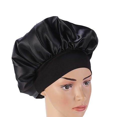 SUPVOX satén Dormir Gorro de Noche Gorro Sombrero Pelo Largo capó Pelo capó Sombrero para Mujeres