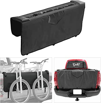 GJCrafts Truck Tailgate Protection Pad Bike Tailgate Cover with 5 Secure Bike Frame Straps for Trunk Mountain Bikes