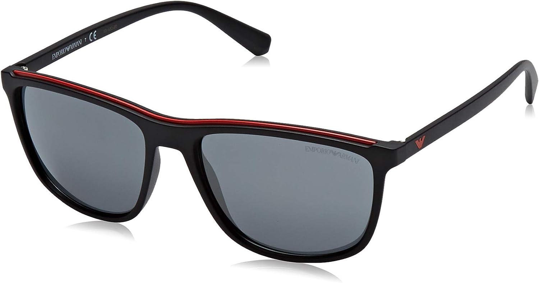 Emporio Armani EA4109 50426G Matte Black EA4109 Rectangle Sunglasses Lens Categ
