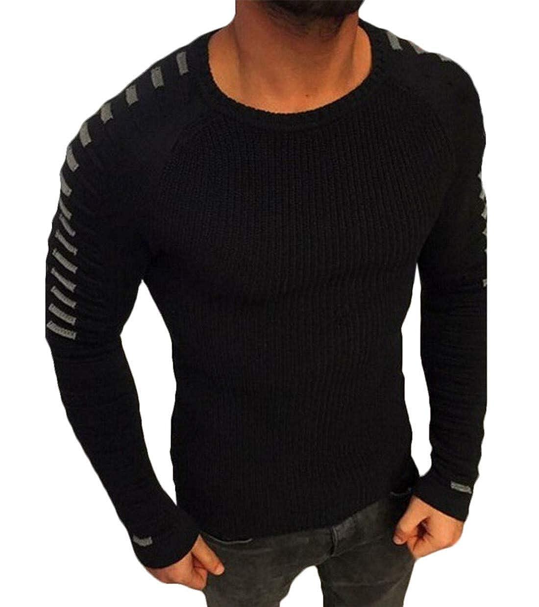 Nanquan Men Hipster Hip Hop Crewneck Pullover Knitted Sweater Jumper Tops
