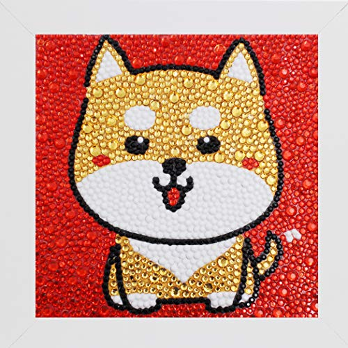 Bestlus DIY Kids Diamond Painting by Number Kits Arts and Crafts Kits for Children (Doggy, 15x15CM)
