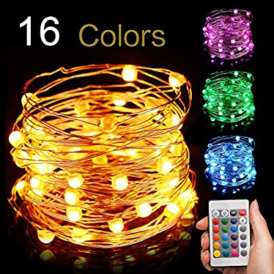 EIISON Led String Light Battery Powered, Multi 16 Color Changing 16ft with  Remote, Modes Changeable, Waterproof indoor & outdoor 50 Fairy Starry Micro  LEDs, ... - Amazon.com : EIISON Led String Light Battery Powered, Multi 16 Color