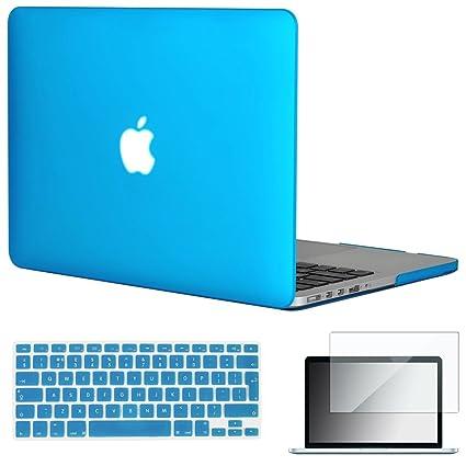 Topiedeal - 3 en 1 - Teclado versión EU/UK - Carcasa rígida mate para Macbook Pro de 13,3 pulgadas con pantalla de retina modelo A1425/A1502 (sin ...