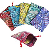 10pcs Silk Brocade Jewelry Pouch Bag for Wedding