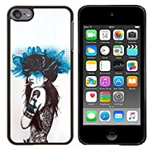 Stuss Case / Hard Protective Case Cover - Smoking Girl Butterfly Tattoo - Apple iPod Touch 6 6th Touch6
