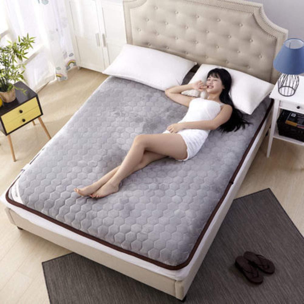 C 90x200cm(35x79inch) Thick Mattress pad Sleeping mat, Japanese Futon Tatami Floor mat Student Dormitory Sponge Floor mat-F 1.5  2m(59x79inch)