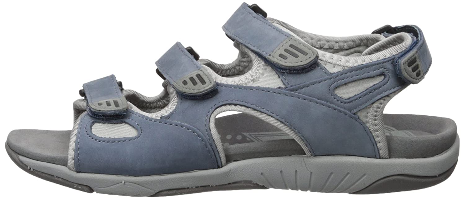 Propet Women's Nami Flat Sandal B01KNVEL9Q 8.5 B(M) US|Denim Blue/Grey