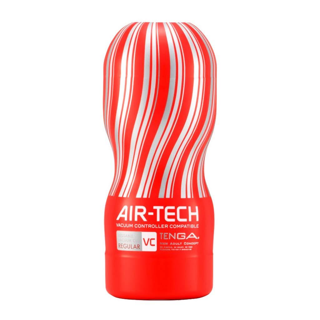 FOO-CHENGREN Masajeador silencioso, automático, automático, de calefacción, multifrecuencia, : silencioso, Adecuado para Hombres (Color : Red, Tamaño : multifrecuencia, 6.7x6.7x16.6cm) 133466