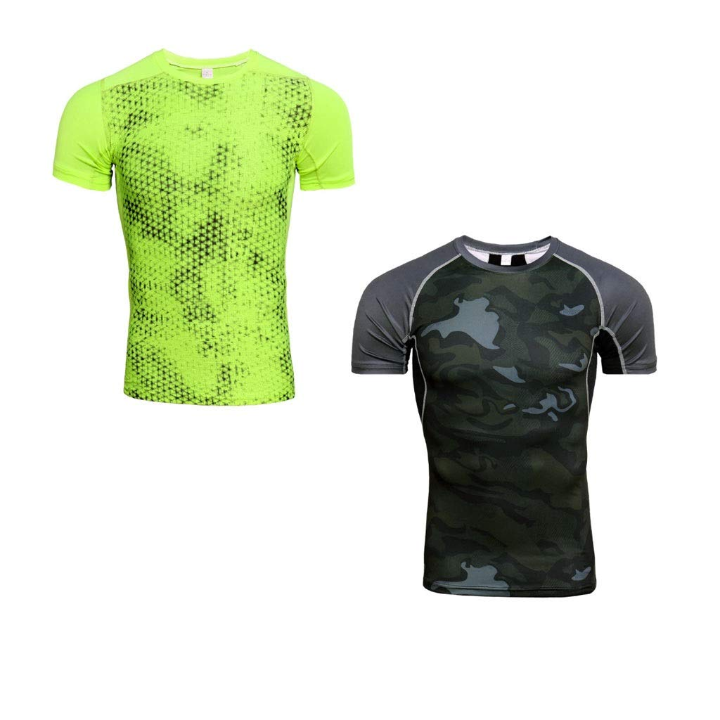 2 Small Lilongjiao Men's TwoPiece FourPiece Sports TShirt ShortSleeved QuickDrying Clothes Casual Fitness Running Shirt