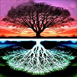 Oucan DIY 5D Diamond Painting Kit,Trees Paint Cross-stitch Diamond Painting Embroidery Diamond Painting Photo for Adults Home Decor (30 * 30cm)