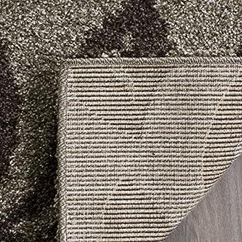 Safavieh Florida Shag Collection SG456-7928 Smoke and Dark Brown Area Rug (8 x 10)