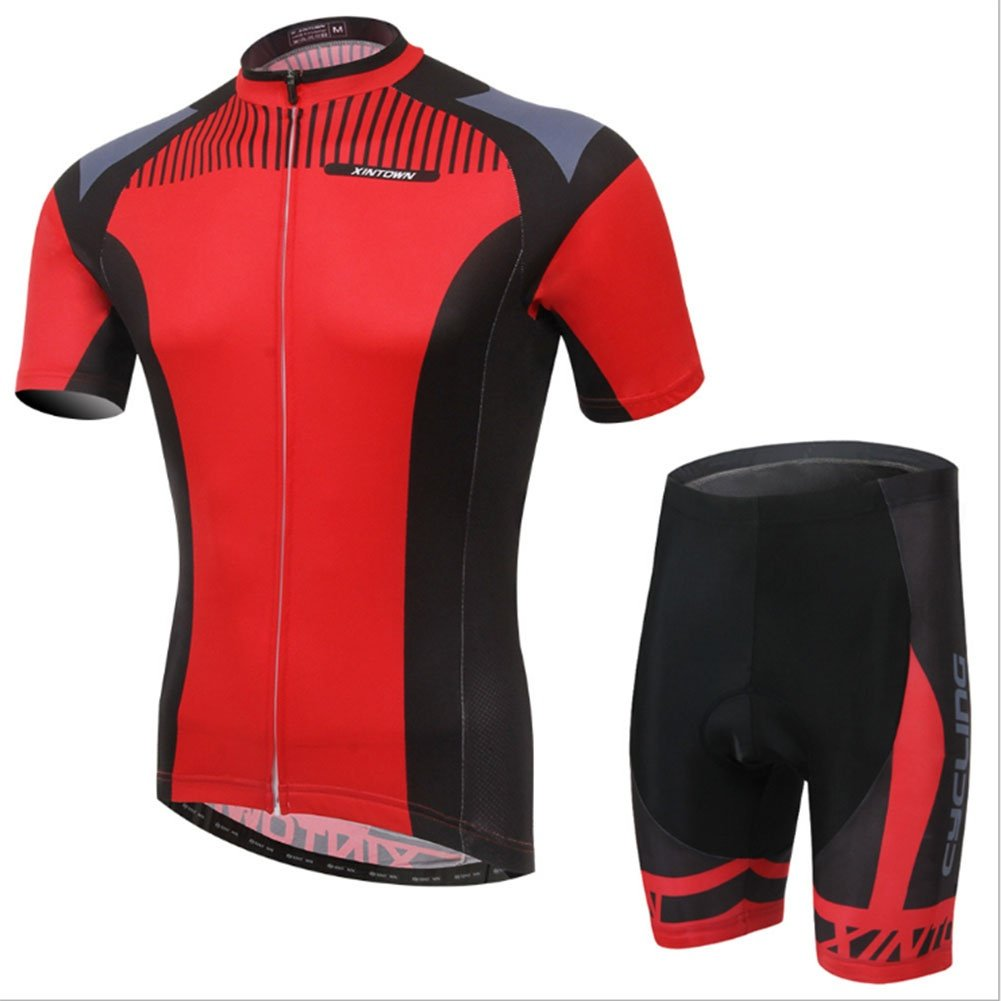 Smwsf WSF Outdoor-Sportarten Reitkleidung Kurzärmeliger Anzug Fahrradkleidung Sommersaison Feuchtigkeitstransport Kleidung Hosen, l