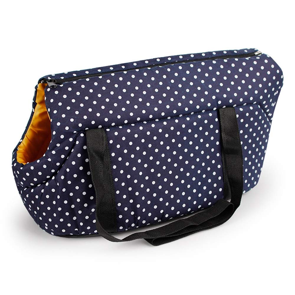 Pet Carrier Backpack Cat Dog Puppy Travel Hiking Camping Pet Carrier Backpack Navy bluee Red Cyan Polka Dot Pattern,Navybluee,L