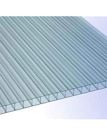 Stegplatten 1500 x ca 700 mm x 8 mm RK-Stegplatten klar ca Hohlkammerplatten Gew/ächshausplatten Polycarbonat