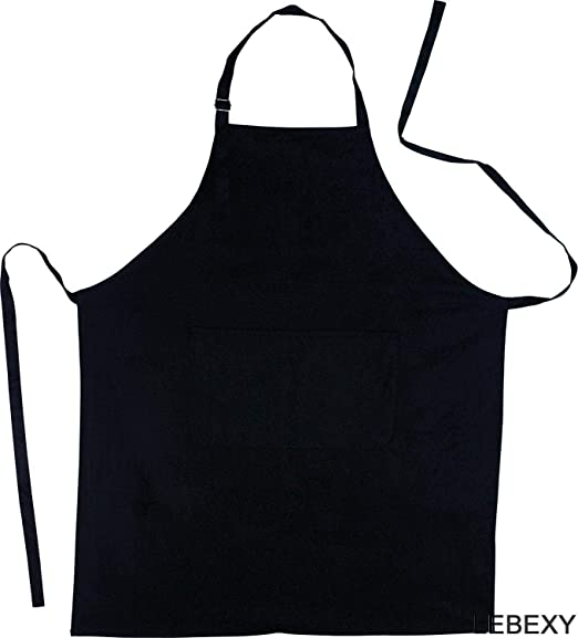 Küchenaccessoires - Delantal de Cocina (algodón), Color Negro ...