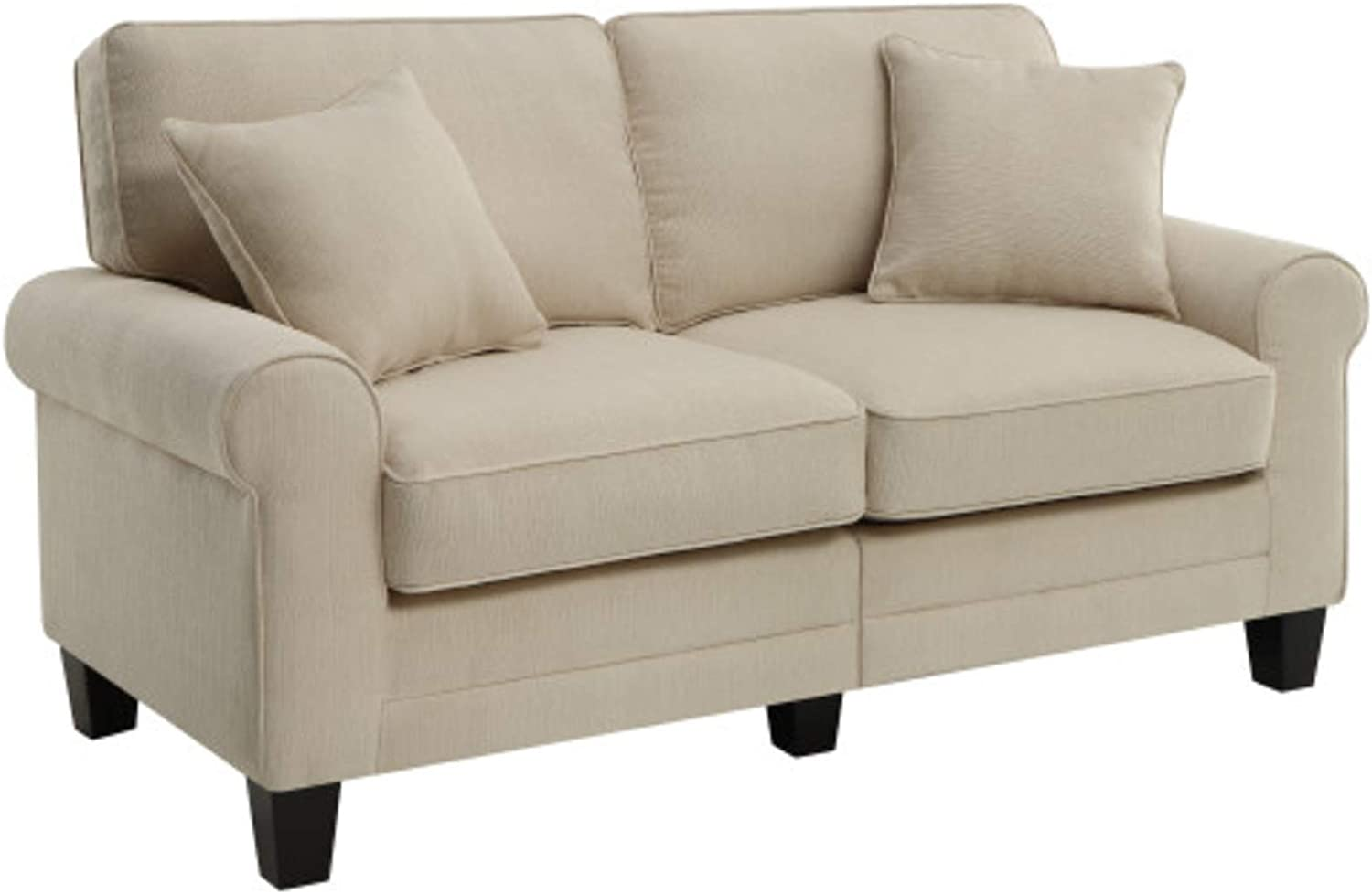 "Serta Copenhagen Love Seats, 61"" Loveseat, Buckwheat"